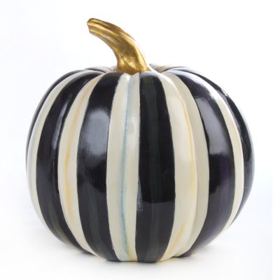 Courtly Stripe Pumpkin - Large