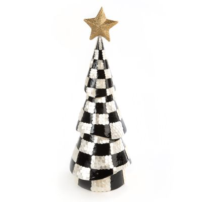 Black & White Check Capiz Tree - Medium
