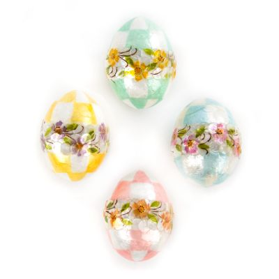 Pastel Floral Eggs - Small - Set of 4