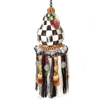 Courtly Check Pear Tassel