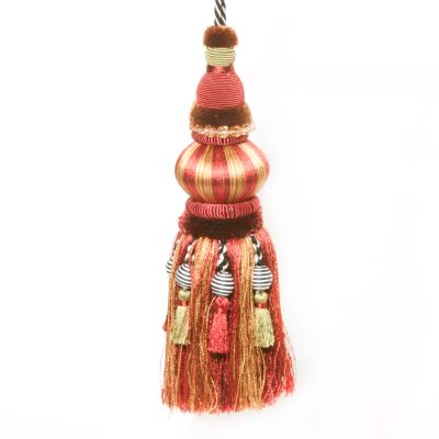 Bibelot Tassel - Red & Gold