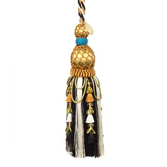 Swag Festoonery Tassel - Black & Cream