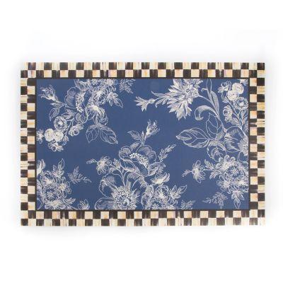 Wild Rose Floor Mat 2 X 3 Blue