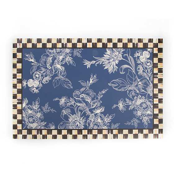 Wild Rose Floor Mat - 2' x 3' - Blue