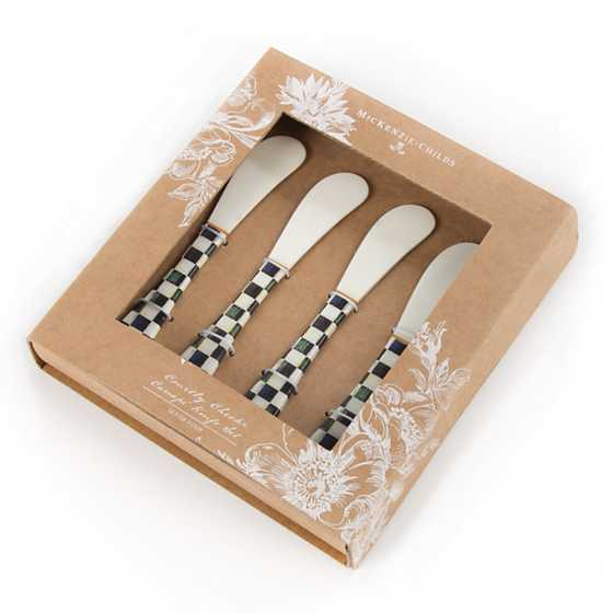 Mackenzie childs courtly check canape knives set of 4 for Canape knife set