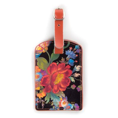 Flower Market Luggage Tag - Black