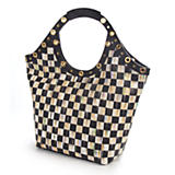 Courtly Check Large Tailor Tote - Black