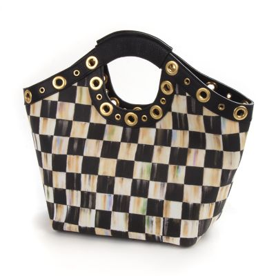 Courtly Check Tailor Tote - Black