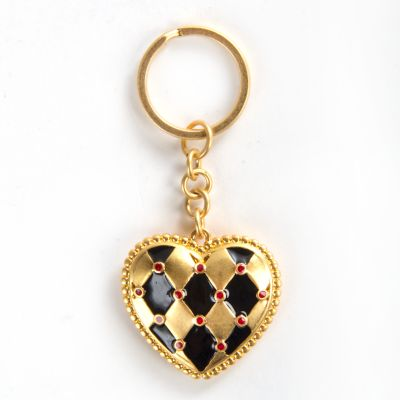 Harlequin Heart Key Ring