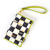 Courtly Check Wristlet - Chartreuse