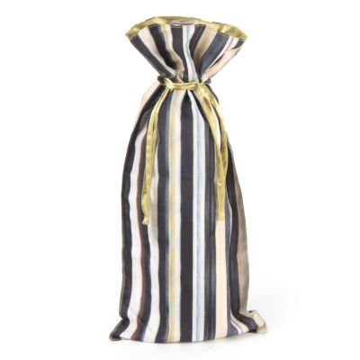 Courtly Stripe Wine Bag