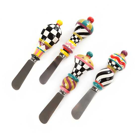 Mackenzie childs jubilee canape knives set of 4 for Canape knife