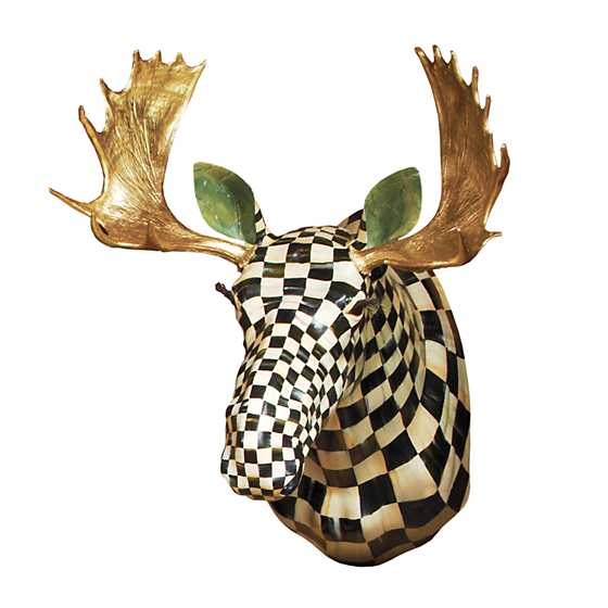 Mackenzie Childs Courtly Check Moose Head