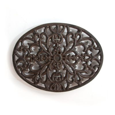 Oval Scroll Cast Iron Trivet