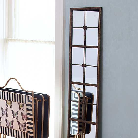 Mackenzie childs long gold framed wall mirror for Long framed mirror