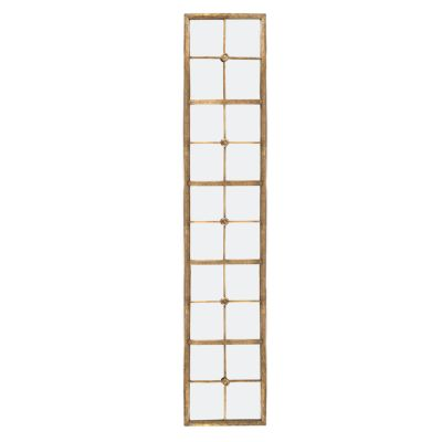 Long Gold-Framed Wall Mirror
