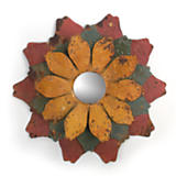 Distressed Multicolor Floral Mirror