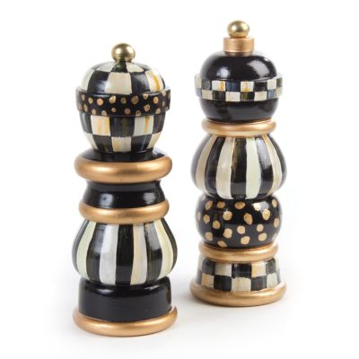 Courtly Check Salt & Pepper Mill Set - 7""