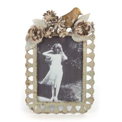 Bird & Flowers Metal Frame