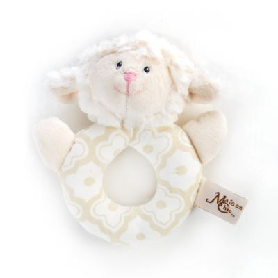 Lillie the Lamb Ring Rattle