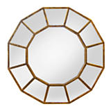 Round Antiqued Glass Mirror