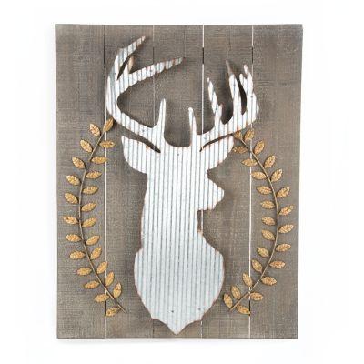 Wood & Corrugated Metal Deer Wall Art