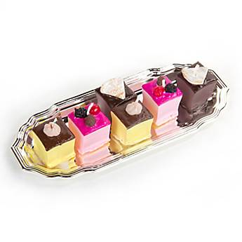 Candles - Square Petit Fours on Tray