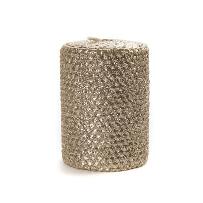 "Glitter 4"" Pillar Candle - Gold"