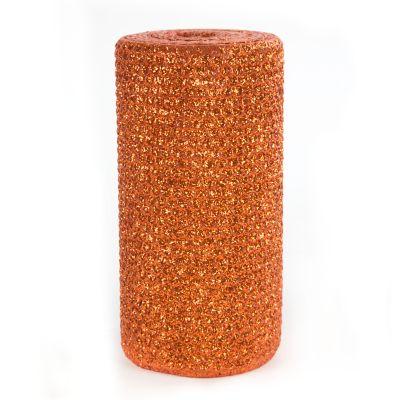 """Glitter 6"""" Pillar Candle - Mandarin"""