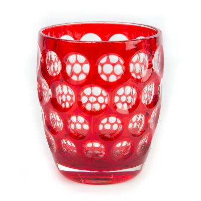 Lente Glass Tumbler - Red