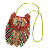 Beaded Owl Bag