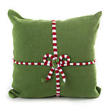 Candy Gift Pillow with Red & White Bow