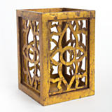 Decorative Gold Leaf Wooden Riser - Large