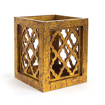 Decorative Gold Leaf Wooden Riser - Small