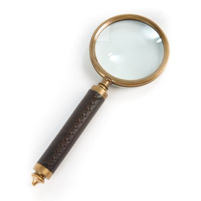 Leather-Handled Magnifying Glass