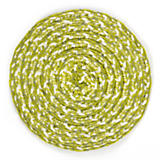 Rattan Coasters - Natural/Avocado - Set of 4