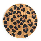 Rattan Coasters - Leopard - Set of 4
