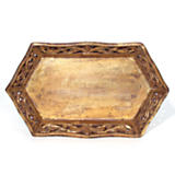 Gold Leaf Rectangle Tray