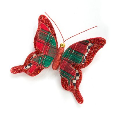 Tartan Butterfly Clip - Small