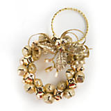 Bell Wreath Ornament - Gold