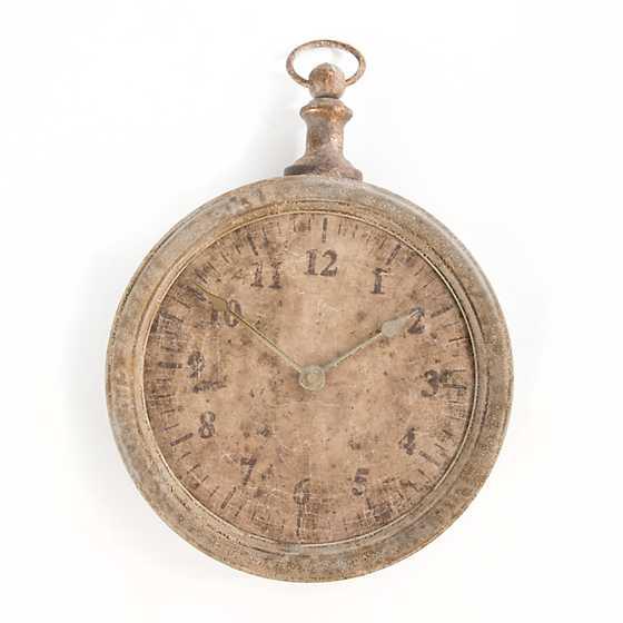 Mackenzie Childs Iron Clock Ornament Brown