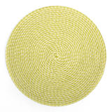 Rattan Placemat - Natural/Avocado