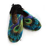 Peacock Slippers - Large