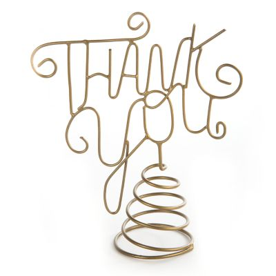 Thank You Wire Bottle Topper