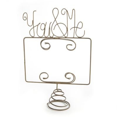 You & Me Wire Photo Bottle Topper
