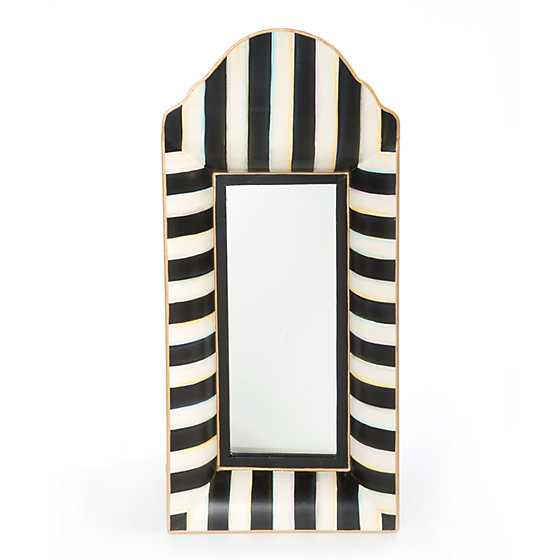 Black & White Striped Mirror