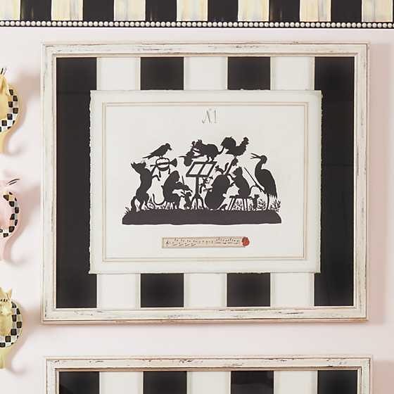 Musical Animals Print with Stripe Mat - Plate 1