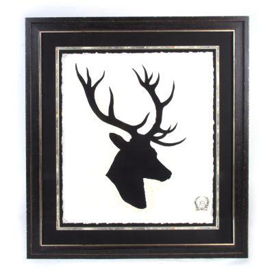 Stag Head Print - Plate 1