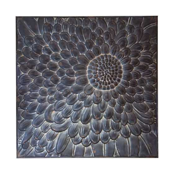 Wall Decor - Embossed Metal Flower
