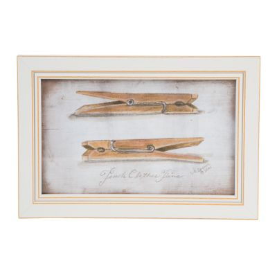 Double Clothespin Wall Art